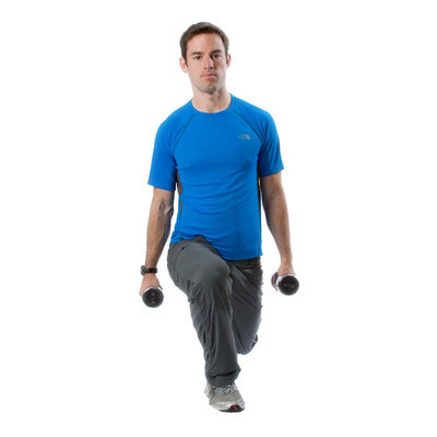 Standing Dumbbell Lunges