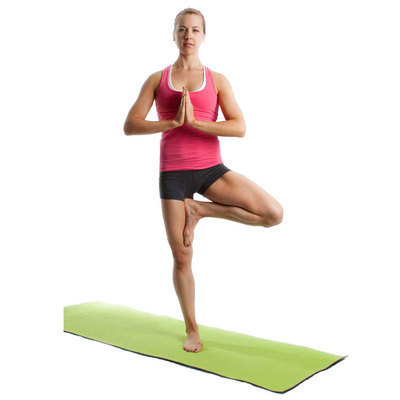Try tree pose with prayer hands.