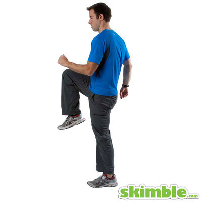 Walking Lunges with Knee Lifts