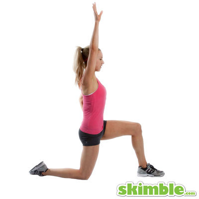 Kneeling Lunge with Right Side Stretch