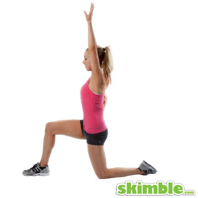 Kneeling Lunge with Left Side Stretch
