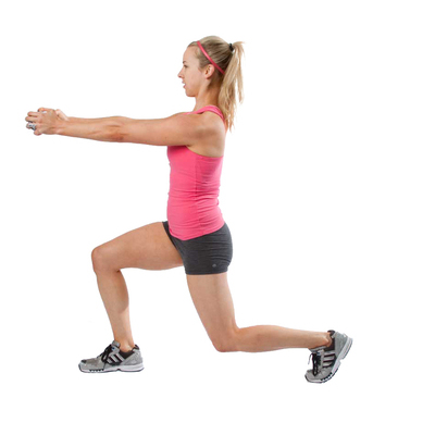 Dumbbell Lunge and Rotation